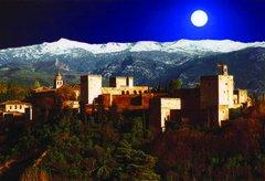 [Alhambra at night]