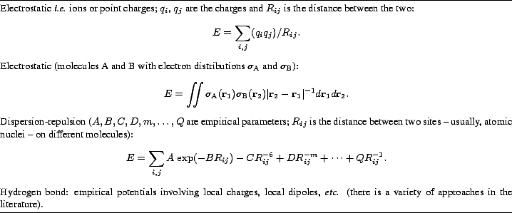\begin{table} \par \begin{small} \smallskip \hrule\par \smallskip \par Electrost... ...hes in the literature). \par \end{small}\smallskip \hrule \smallskip \end{table}