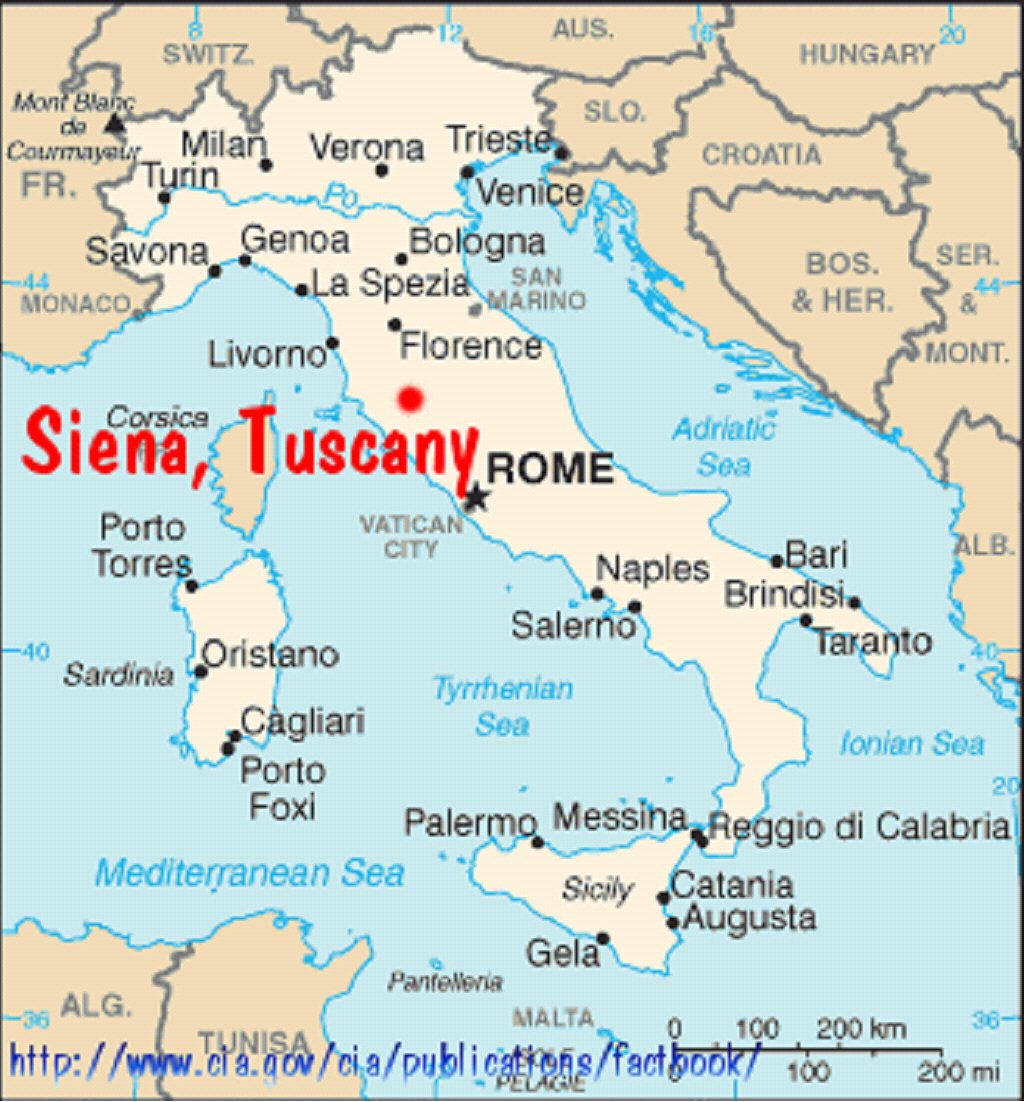 Siena Italy Map Map of Italy showing Siena and ii schematic map of the city of