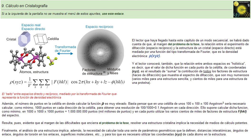 [New crystallography website]