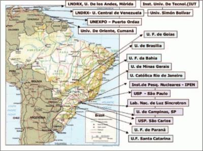 IUCr Crystallography In Latin America - Argentina landmarks map