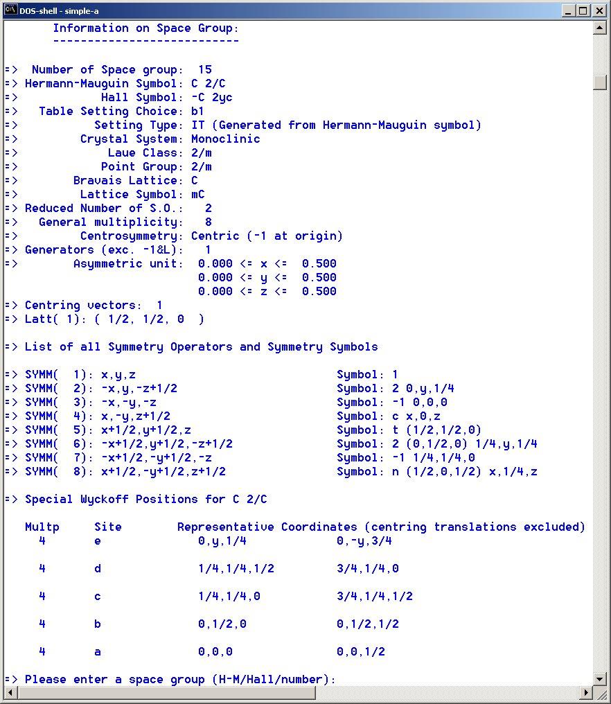 [program output]