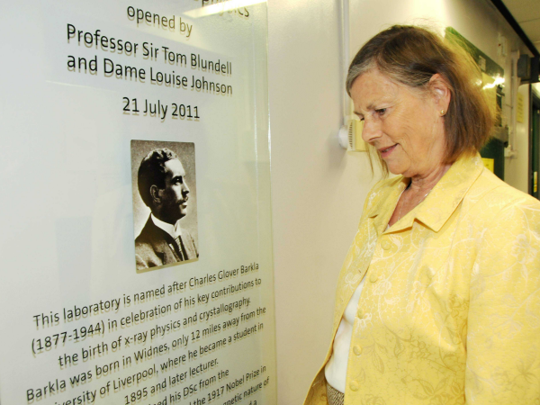 [Louise Johnson at the opening of the Charles Barkla Laboratory]
