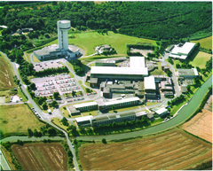 [Aerial view of Daresbury]